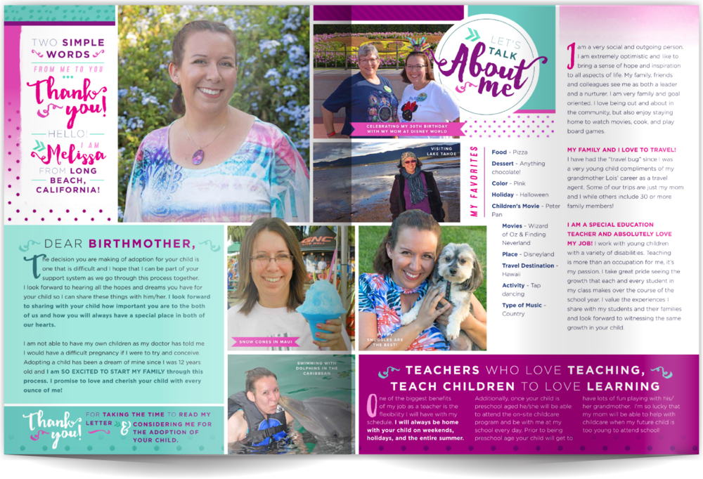 Adoptive Parent Profiles Our Chosen Child Design Services Melissa