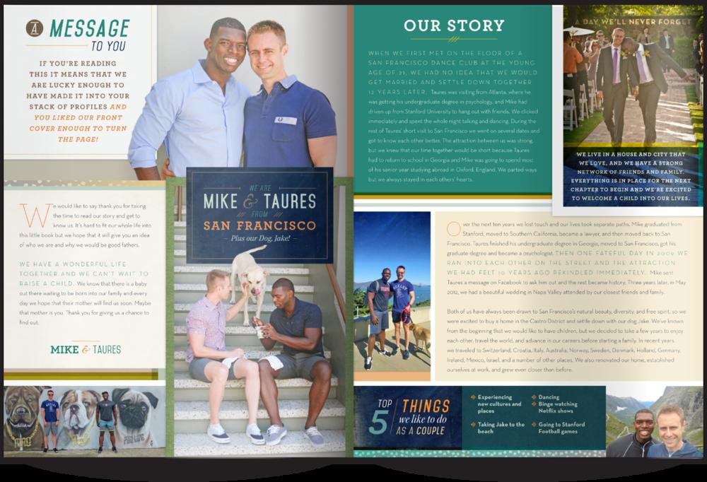 LGBT Adoptive Parent Profile Our Chosen Child Design Services Mike & Taures