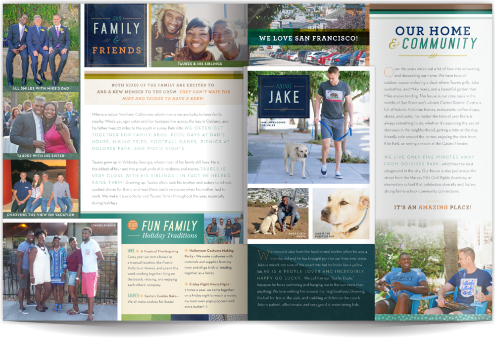 Adoption Profile Book Sample Two Dads Our Chosen Child Design Services Mike & Taures