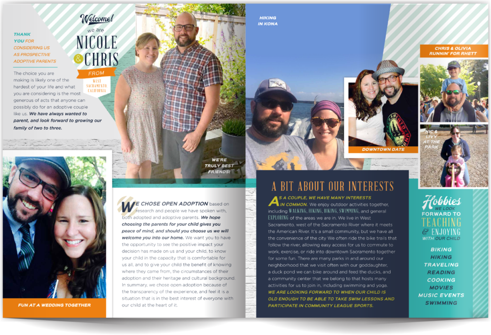Modern Adoption Profile Book Our Chosen Child Design Services Nicole & Chris