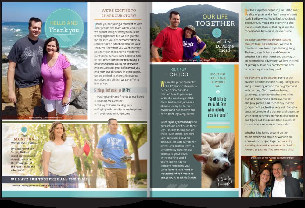 Adoptive Parent Profiles Our Chosen Child Design Services Sabetha & Scott