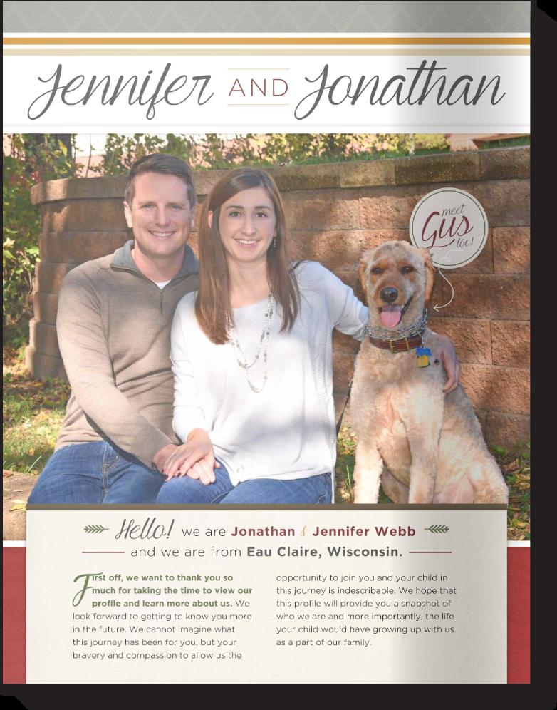 Adoption Profiles Online Our Chosen Child Design Services Jennifer Jonathan