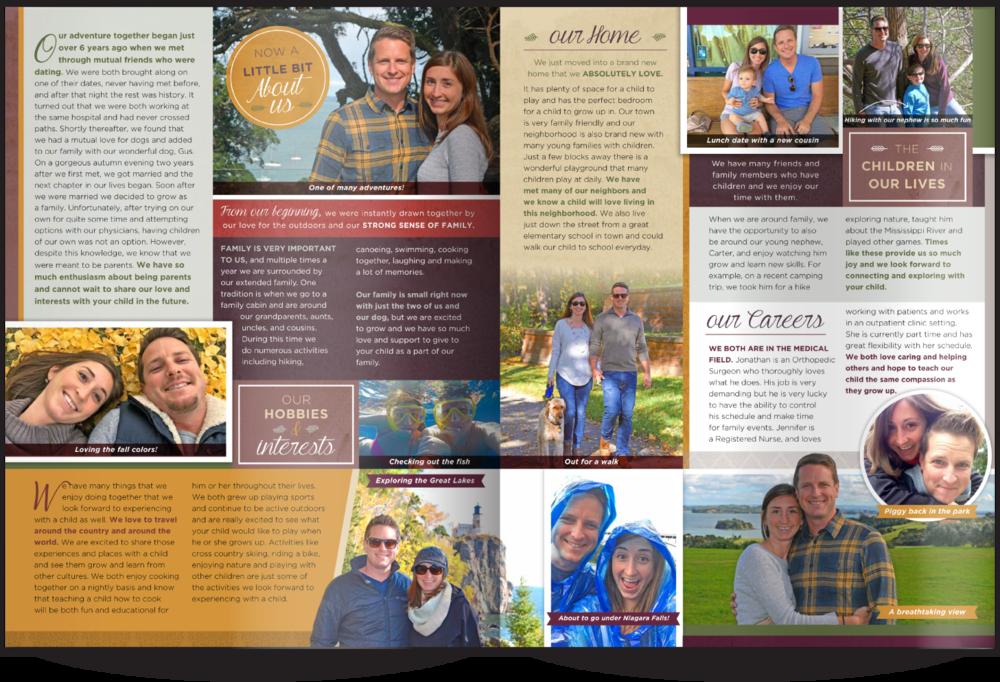 Adoption Profile Book Our Chosen Child Design Services Jennifer & Jonathan