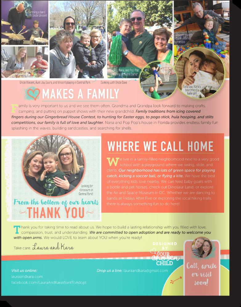 Adoption Profiles Online Two Moms Our Chosen Child Design Services Kara & Laura