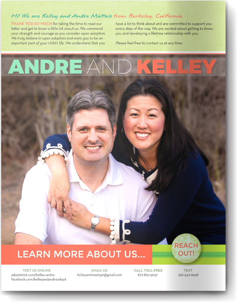 Adoption Profile Samples Online Our Chosen Child Design Services Kelley & Andre