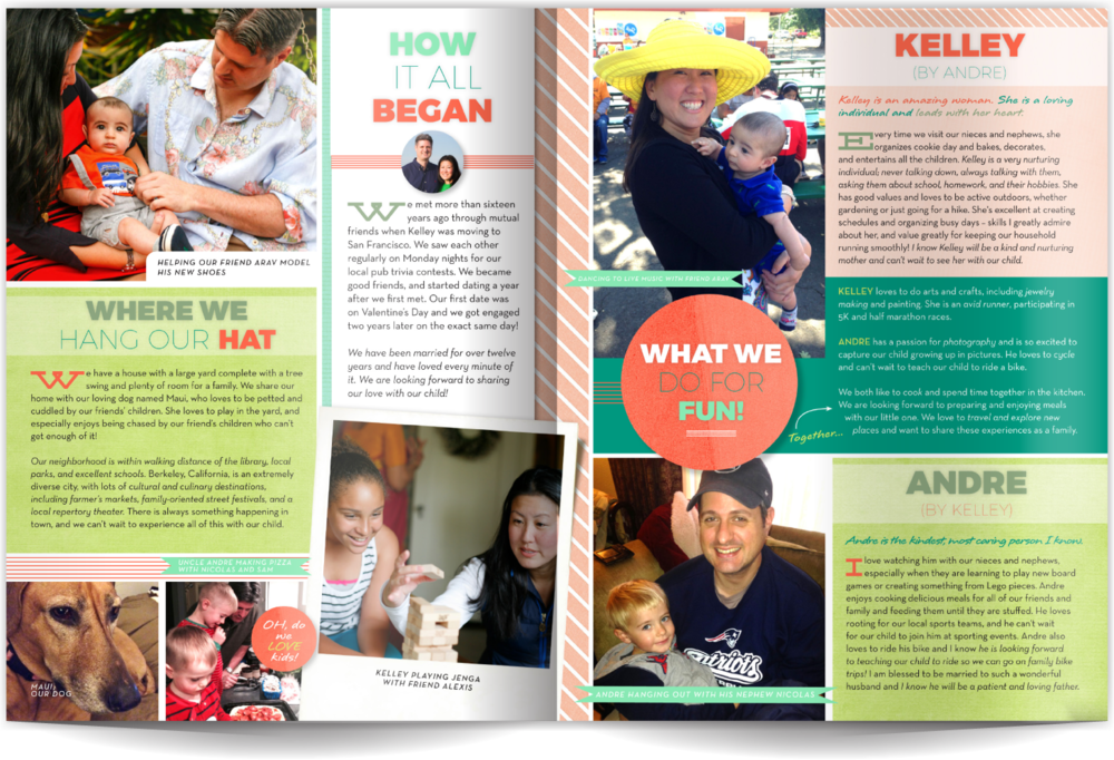 Adoptive Parents Profile Book Our Chosen Child Design Services Kelley & Andre
