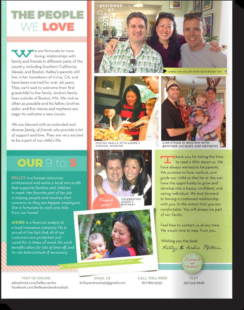 Adoptive Parent Profile Sample Our Chosen Child Design Services Kelley & Andre