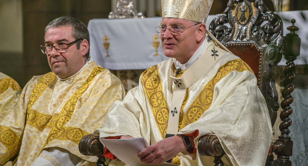 Archbishop Cushley delivers sermon