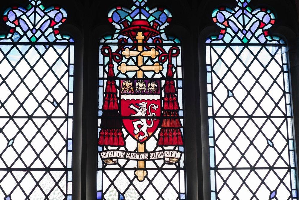 Cardinal Gray crest, Spiritus sanctus subveniet