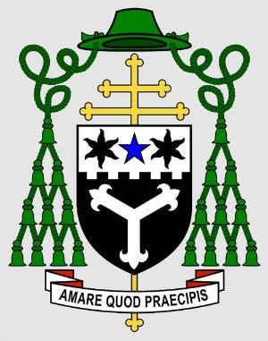 Archbishop Cushley crest - Amare quod praecipis