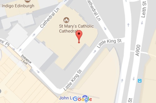 Location of St Mary's Catholic Cathedral