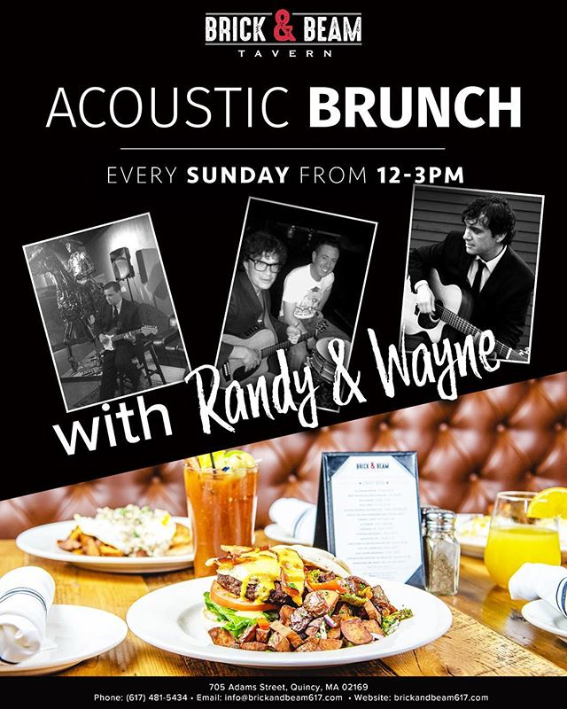 Sunday Funday Alert🍾 Brunch with some entertainment 🥂 Serving brunch 11-3 accompanied by some live music 12-3!