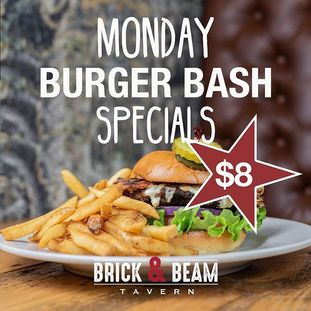 Our Burgers Will Always Fix Your Monday Blues 🍔🍻 Kitchen Open Till 10, Bar Till Last Call!