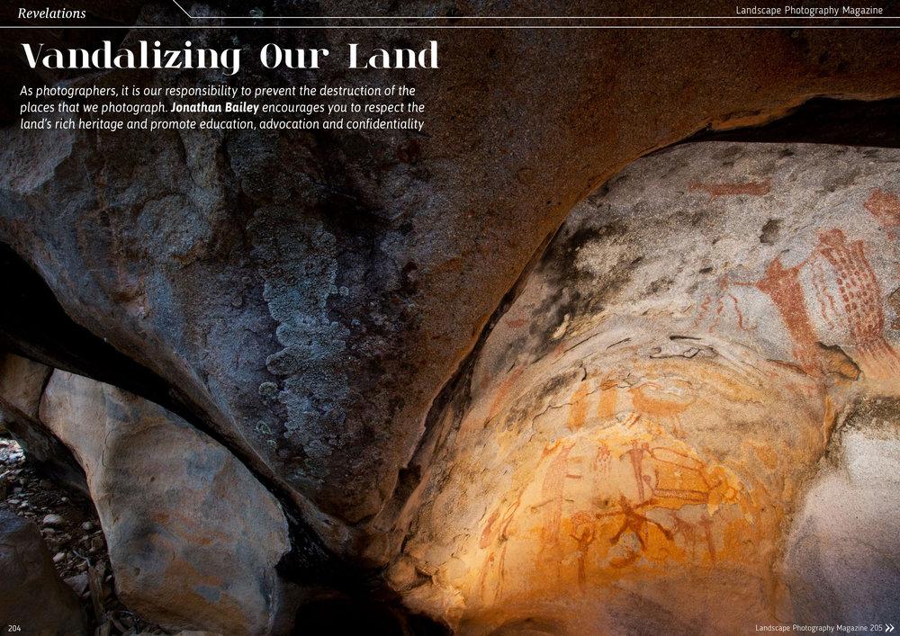 Essay / Landscape Photography Magazine - https://landscapephotographymagazine.com/2016/vandalising-our-land/