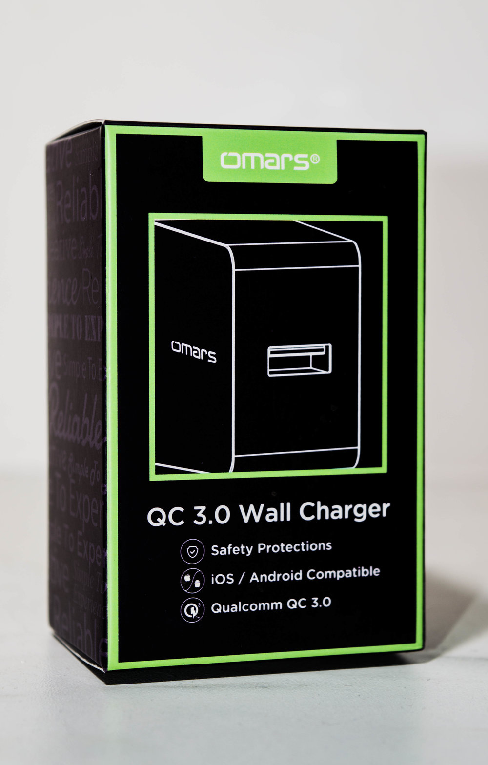 OMARS Wireless Chargeur Chargeur USB QC3.0 - 1port) - OMARS Wireless Charger