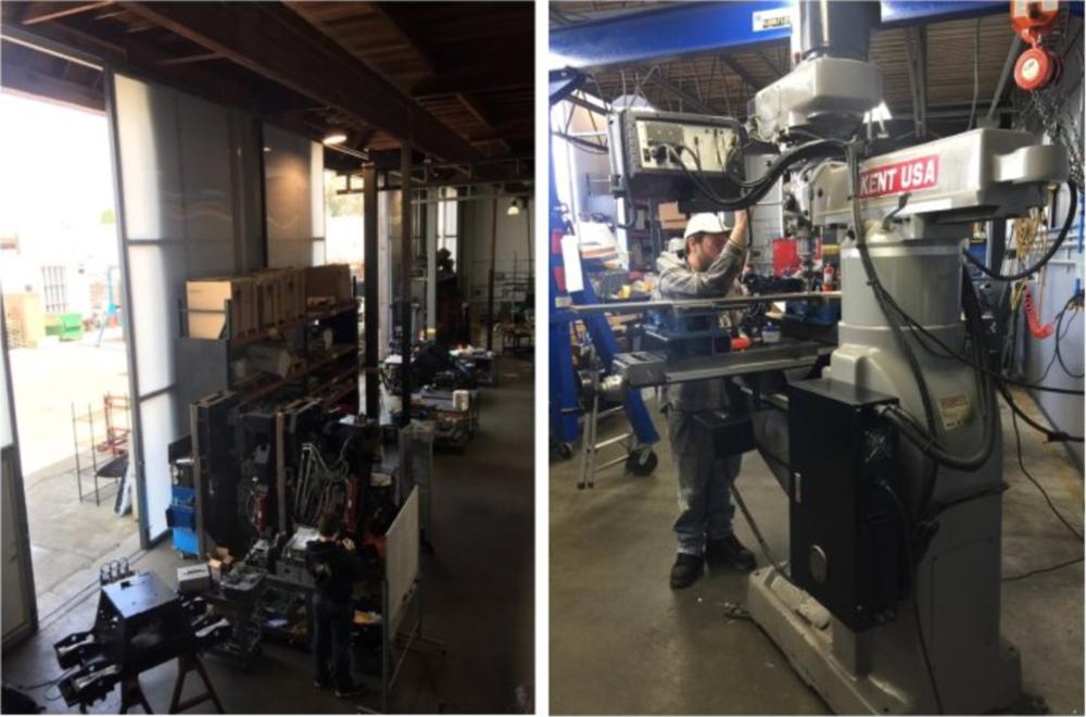 机器人工厂一角