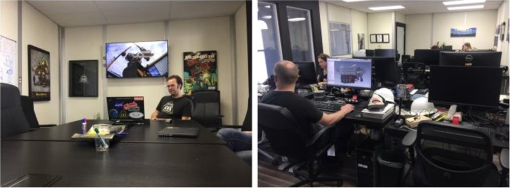 位于工厂二楼的MegaBot的会议室与设计部,市场部工作室