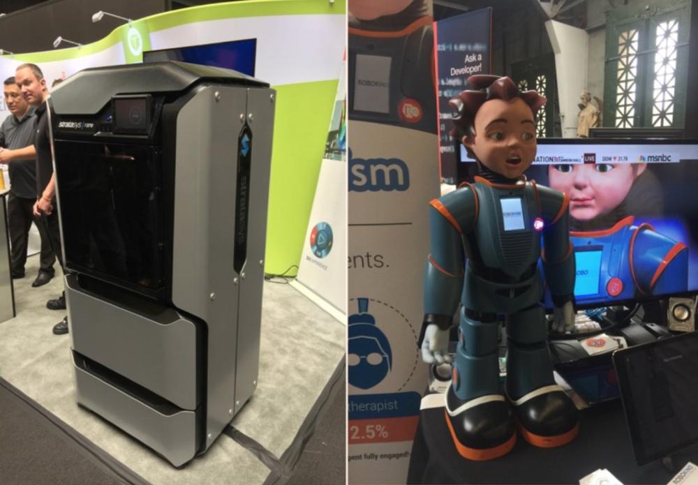 可以使用多种材料的3D打印机和可帮助自闭症儿童的机器人