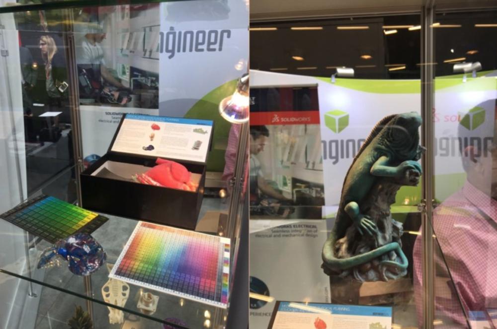3D打印机的色盘,可以通过3D打印机打印出栩栩如生的蜥蜴
