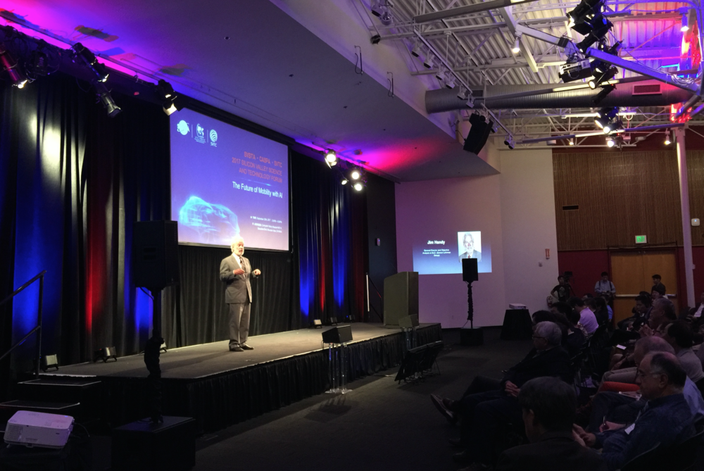Semiconductor analyst Jim Handy presents AI and autonomous cars' impact on future computing and storage demand for semiconductors.