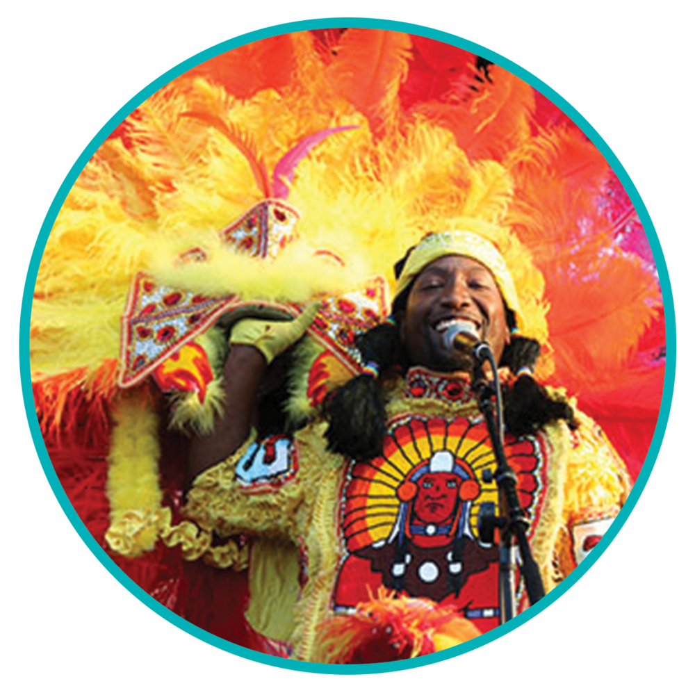 BIG CHIEF JUAN PARDO - MUSICIAN, MARDI GRAS INDIAN CHIEF