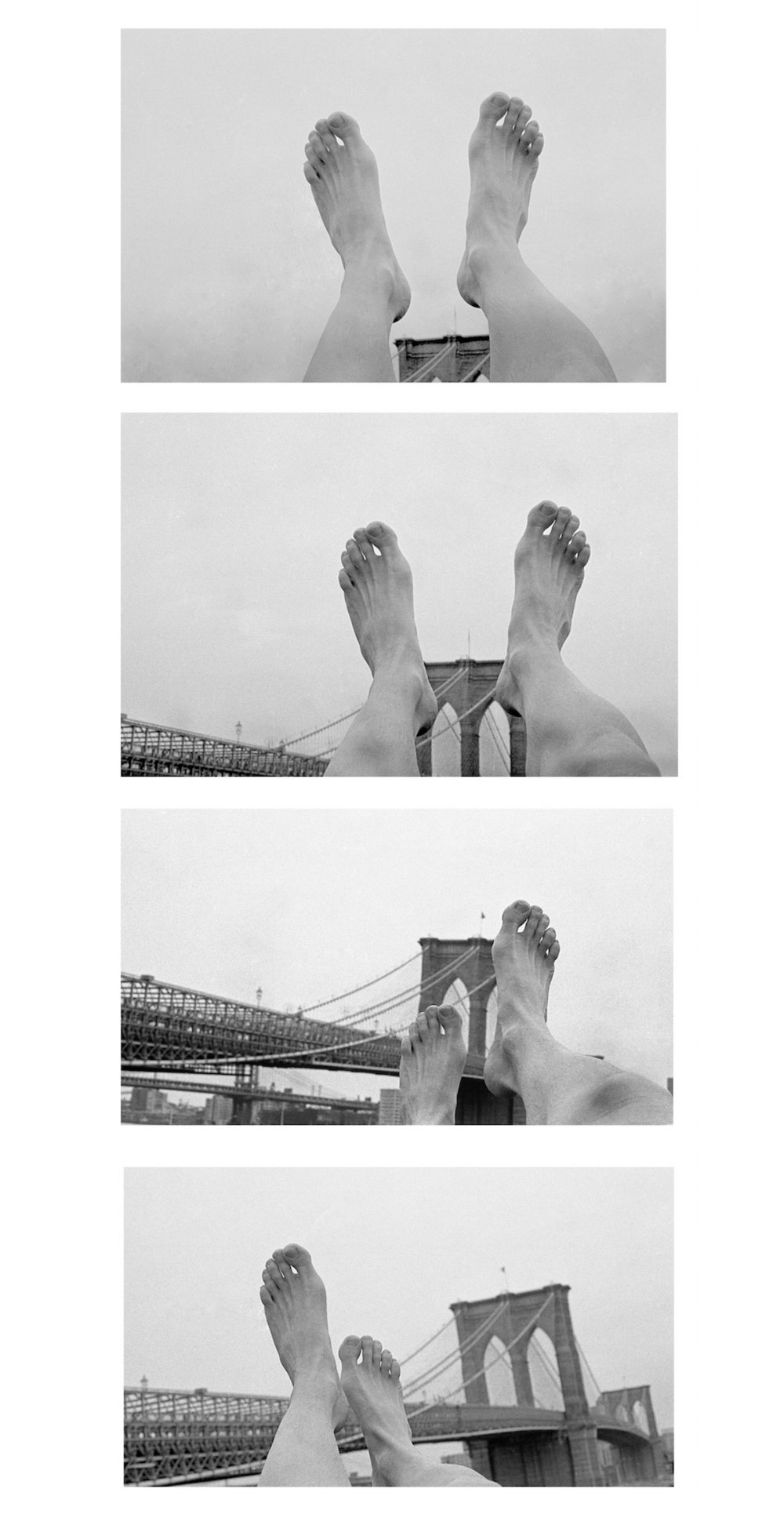 Brooklyn Bridge feet