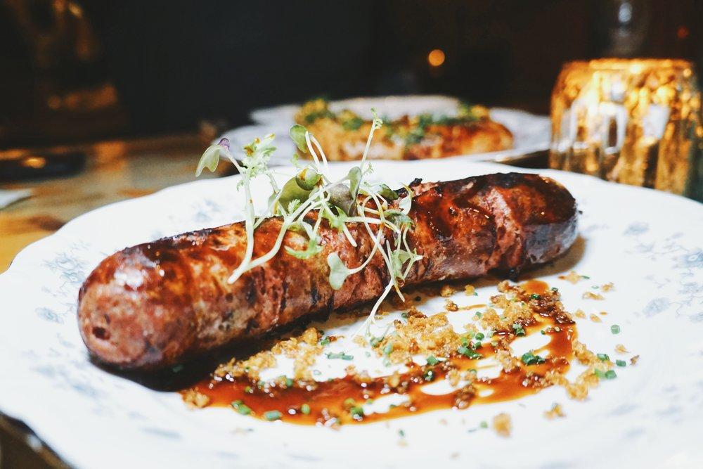 Duck Sausage and Chicken Bratwurst
