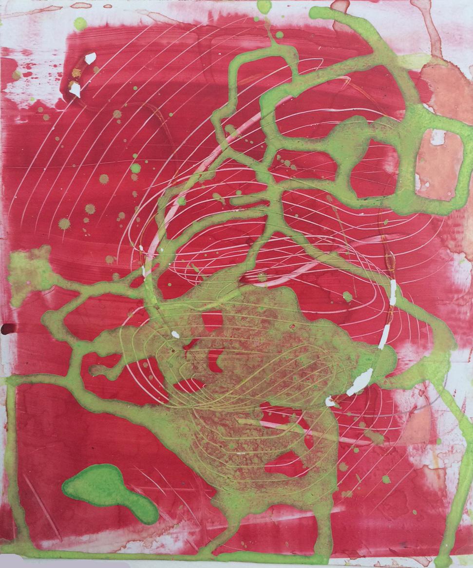 Calliph   9 x 8 inches  Acrylic on Styrene  2013