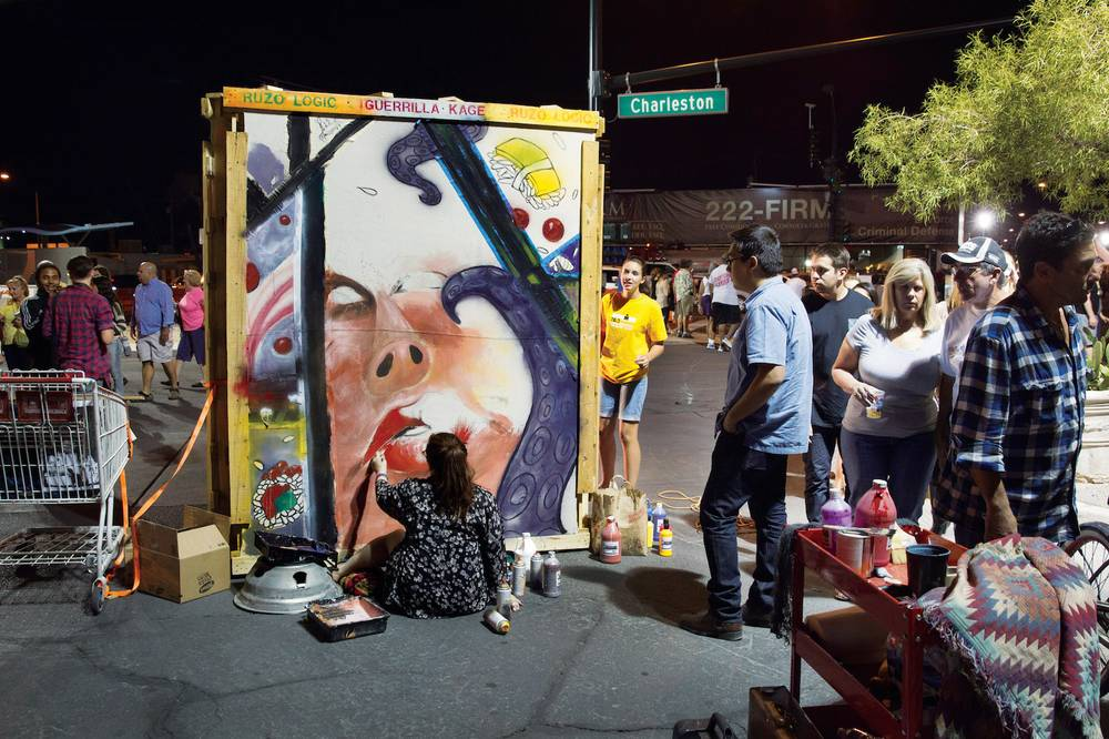First Friday - If you're Downtown on the First Friday of any given month you can visit the art festival that takes place. It's a culmination of free entertainment and local artists located on Casino Center Drive by the Art Factory building.