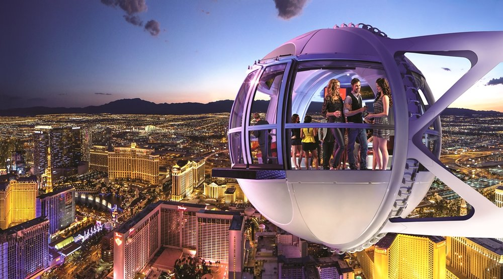 High Roller - Two free day time passes to the world's largest observation Ferris Wheel the High Roller. Get the best views of the Las Vegas Strip and surrounding valley.