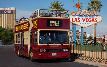 Open Top Bus Tour - Take a tour of the city of Las Vegas day or night. This guided tour lets you hop on or hop off at almost any point on the Las Vegas Strip.