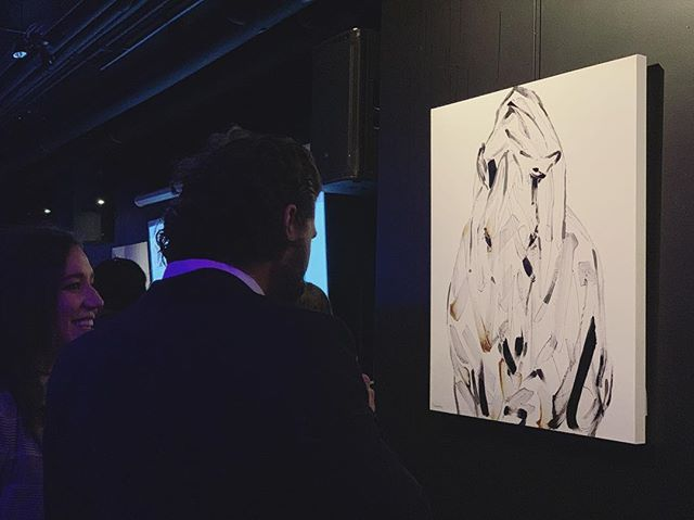 "Live at @lelivart — still time to place your bids by texting ""ARTFAIR"" to 438-600-4092 . . In support of @fondationmira and other great wildlife charities ♥️ . #artauction #montrealart #contemporaryart #art #collectart #equestrian #horse #horseart #equineart #collect"