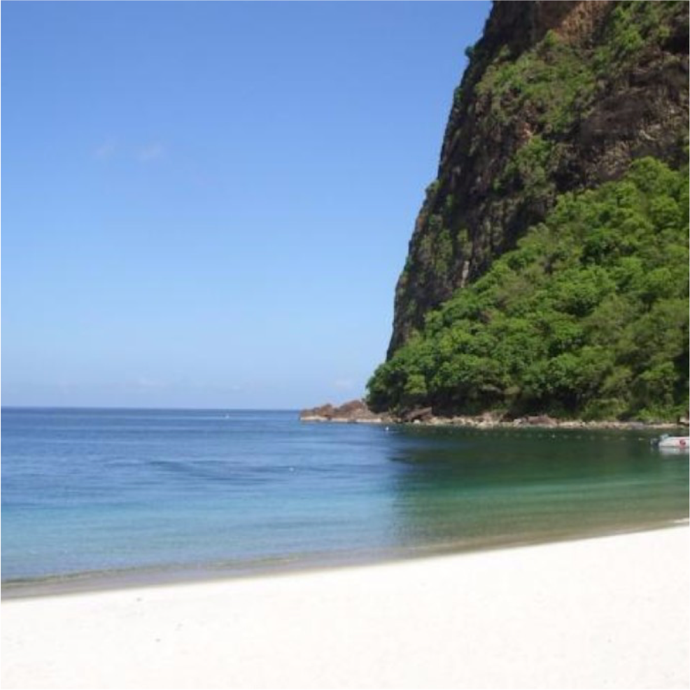 ANSE DES PITONS IN JALOUISE BAY   This beach in St Lucia might be the style you imagined. Anse des Pistons Beach is...  More