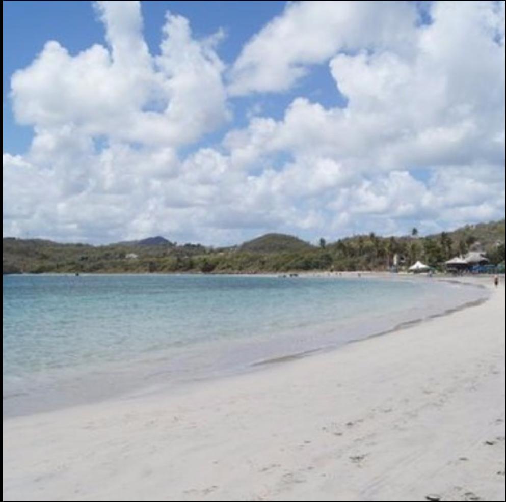 CAS EN BAS   Located near the Gros Islet, this eastern St. Lucian beach is a quieter beach...
