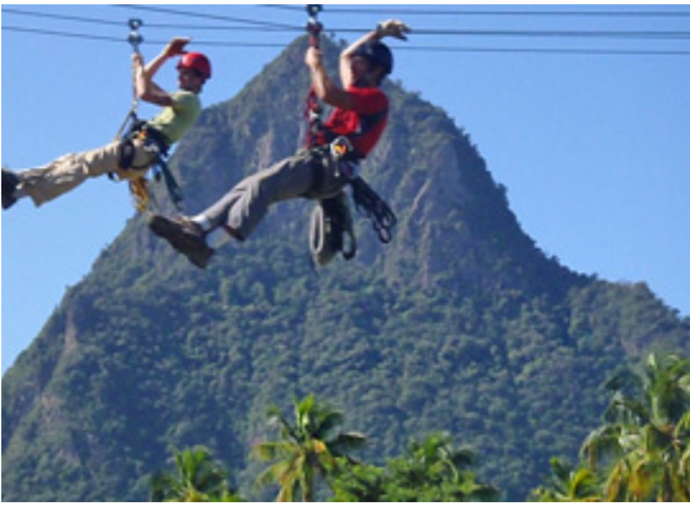 TREETOP ADVENTURE PARK   Some of St Lucia's longest and highest zip-lines, located in Dennery, on the east coast of the island and offering an exciting way of exploring the lush rainforest.