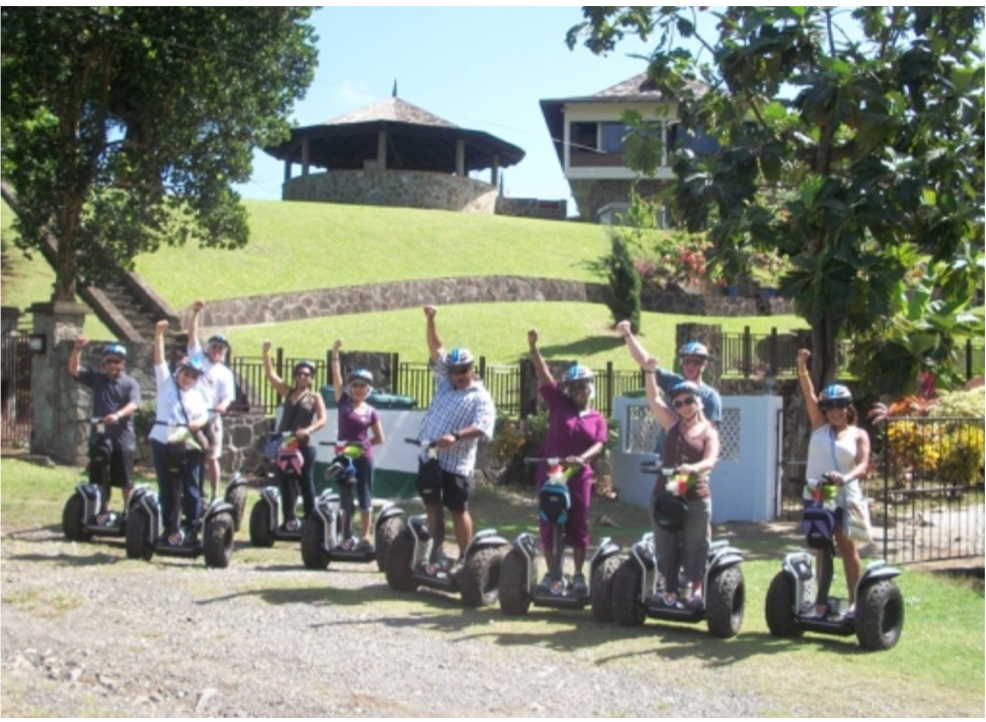 SEGWAY TOURS   A guided tour up Mount Pimard taking visitors through the island's fauna and flora, and various points of interest such as World War 2 Bunkers, with stunning views of the island's coastline, including Pigeon Island and Rodney Bay.