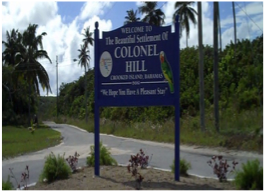 COLONEL HILL   Located at its highest point, this settlement boasts the best views of the island, and is home to the local Post Office, Police Station, Central Park, as well as the Central and Local Government offices.
