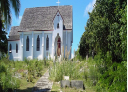 ALL SAINT'S ANGILICAN CHURCH   Established in 1818 by two slave traders, London Anglican priest Joseph Evans and Harbour Island resident Arthur Sweeting, All Saints started as a leaf tent to then be upgraded to a wooden, then stone structure in 1891, and is Mangrove Cay's oldest building.
