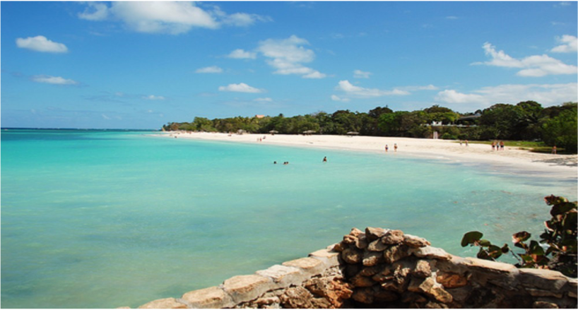 PLAYA GUARDALAVACA   White sand and sheltered reefs with a dreamy background composed of hills and sugar cane fields, there's no doubt as to why this 1500...  More