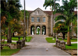 CODRINGTON COLLEGE   Patterned after an Oxford college and built in 1743, the institution is the Western Hemisphere's oldest Anglican theological college. The college's historic principal lodge was part of the Great House of the 17th century Consett plantation.