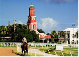 THE GARRISON SAVANNAH    Located close to Bridgetown, this historic site has been the national home of horse racing since 1845, and was once used by officers of the British Regiment stationed in Barbados as a parade ground to race their horses, which later attracted the area's rich planters and merchant.