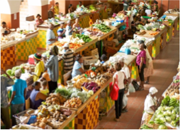 CHEAPSIDE PUBLIC MARKET    One of the biggest market of its kind in the country, where you can purchase items from farmers and vendors, such as clothing, craft, fruit, vegetables, plants, spices, fresh meats and food.