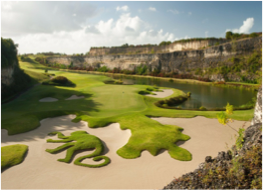 SANDY LANE GOLF CLUB    A course featuring a 450 yards drive range, Clubhouse, material rental, golf carts and caddies.