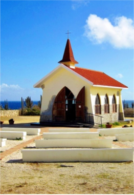 CHURCHES & CHAPELS   Aruba counts as many as 50 churches representing various religions, the island's predominant faith being Roman Catholic.