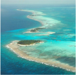 SOUTHWEST CAYE, GLOVER'S REEF ATOLL   One of several islands on this coral atoll, Southwest Caye has wide beaches...  More