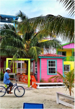 CAYE CAULKER   An hour's boat ride away from Belize City, or 15 minutes from San Pedro, Ambergris Caye, and amongst many travellers' favourite spots is Caye Caulker, a small island with beautiful beaches, turquoise water, and coconut rum!