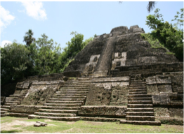 LAMANAI    The Maya site is accessible by boat, departing from Orange Walk and taking you through the New River which, with its abundant wildlife, is a tour in itself (expect to spot monkeys, snail kites, jacana, morelet's crocodile and iguanas).