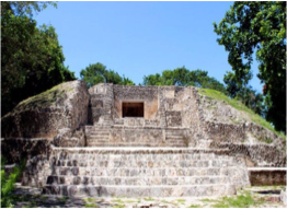 SANTA RITA    Located just outside of Corozal and immortalising the Mestizos' birthplace, this Mayan site dates back to 1500 BC and was one of the area's major trading hubs. Climb up the main temple to enjoy the panoramic vistas.