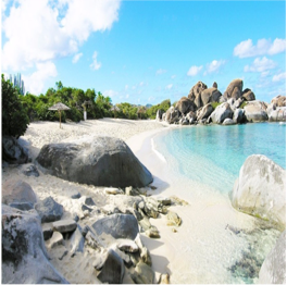 DEVIL'S BAY BEACH   (VIRGIN GORDA)   This beach is accessible by boat or by walking through the trails of The...  More