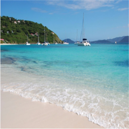 GREAT HARBOUR BEACH (JOST VAN DYKE)   The island's arrival point is a horseshoe-shaped stretch of white sand with...  More